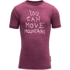 Devold Moving Mountain Tee Kids Plum